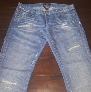 Lucky Brand Distressed & Destroyed Carpenter Jeans